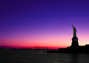 statue-of-liberty-sunset
