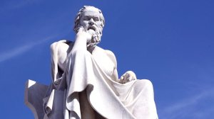 Statue of Socrates in Athens, Greece