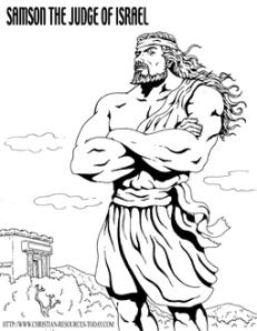 bible_coloring_page_Samson_TheJudge